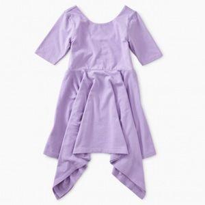 New Tea Collection Solid Handkerchief Hem Dress